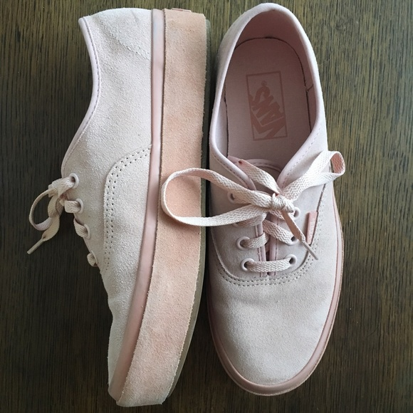 8138aa6ddb3a2f Basically New Vans Authentic Platforms Pink Suede.  M 5ae1280dfcdc31833cff841d